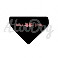 Collier bandana rouge miss diva